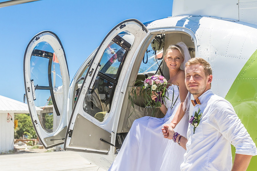 helicopter pilot training services for wedding