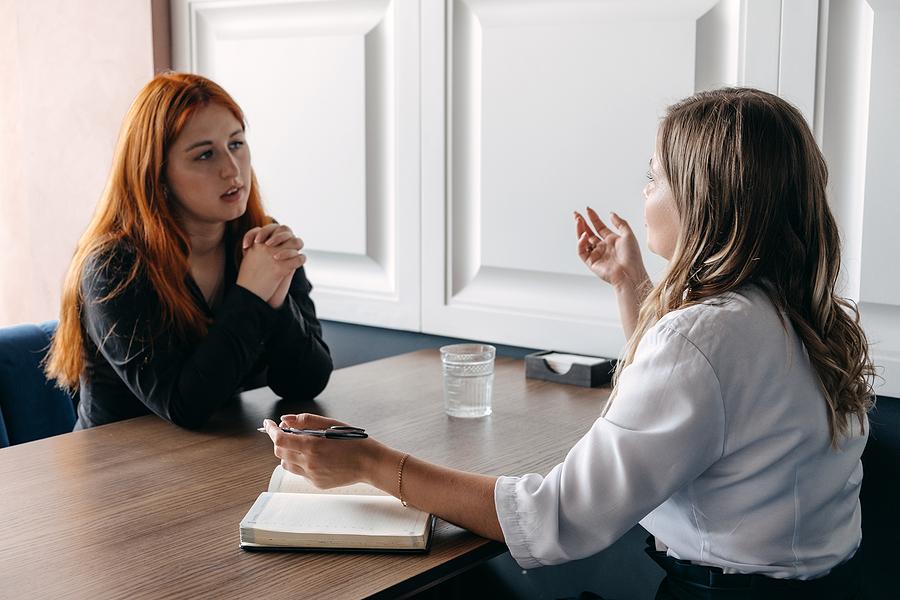 Woman receiving holistic coaching