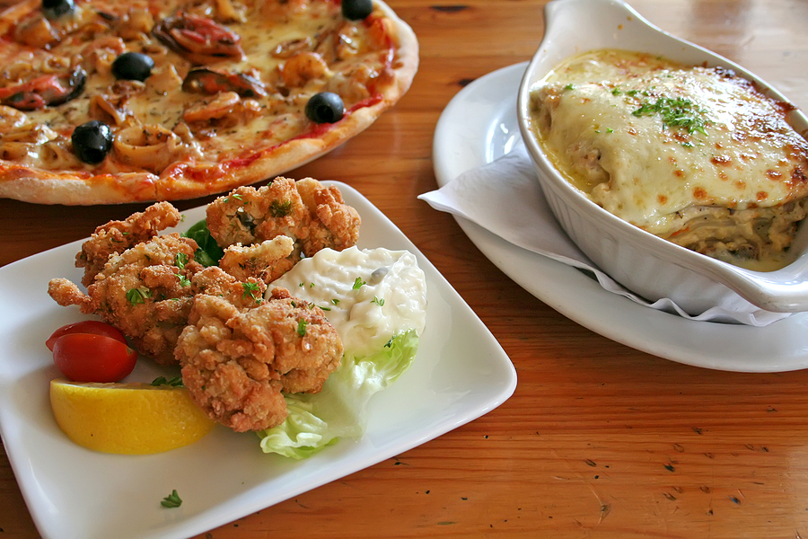 Italian food serving